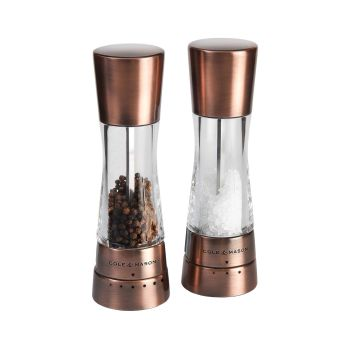 Cole & Mason H59418G Derwent Copper 190mm Tuz - Biber Değirmen Seti