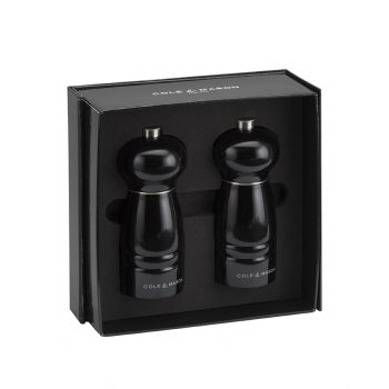 Cole & Mason H477581 Windsor Black 120mm Tuz&Biber Değirmeni Seti