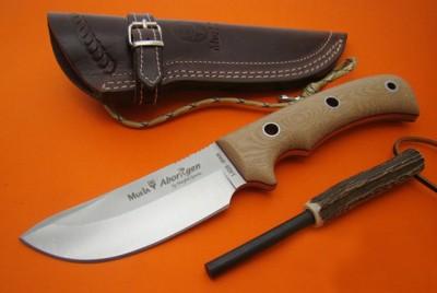 Muela ABORIGEN-12D Zeytin Ağacı Saplı Bıçak - Thumbnail