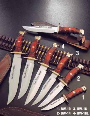Muela BW-14 Bowie Serisi Mercan Ağacı Saplı Bıçak - Thumbnail