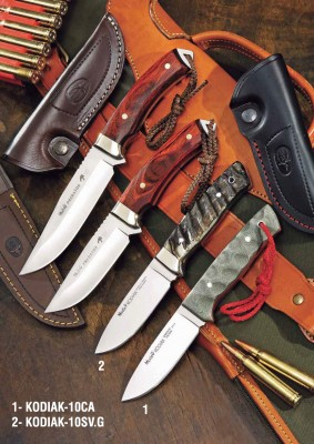 Muela KODIAK-10SV.G Kodiak Serisi Canvas Micarta Saplı Bıçak - Thumbnail