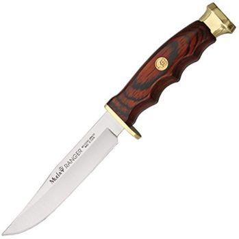 Muela RANGER-12 Coral Pakkawood Ağaç Saplı Pirinç Başlıklı Ranger 12 cm Bıçak