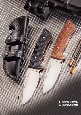 Muela RHINO-10SV.C Rhino Serisi Kahverengi Micarta Saplı Bıçak - Thumbnail