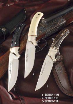 Muela SETTER-11M Setter Serisi Siyah Micarta Saplı Bıçak