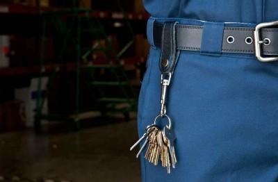 0306-139 Key-Bak Bolt Snap Deri Kemer Kayışlı Anahtarlık Halkası - Thumbnail
