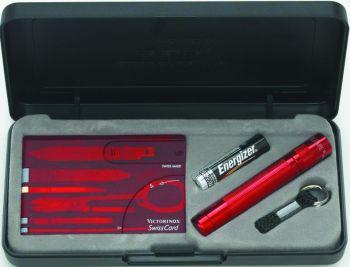 Maglite K3AKTLR Solitaire AAA Fener ve Swisscard Set (Swisscard Hariç)