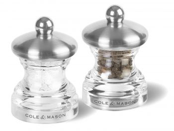 Cole & Mason H302418 Button 65mm Tuz&Biber Değirmeni Seti