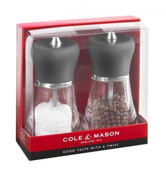 Cole & Mason H358F80 Napoli Grey 120mm Tuz&Biber Değirmeni Seti